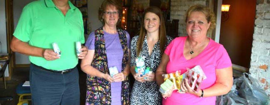Rotary clubs donate clothing, toiletries to Medina Memorial