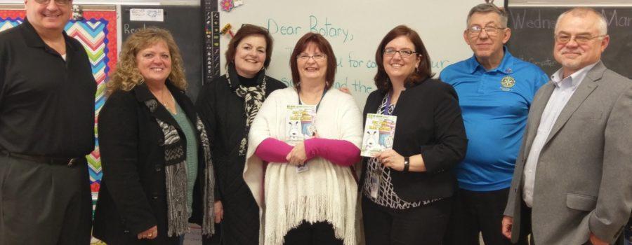 Medina Rotary Club Gives Third Graders Their Own Books.