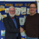 The Rotary Club of Medina welcomes Michael Pratt and Ray Chaya.