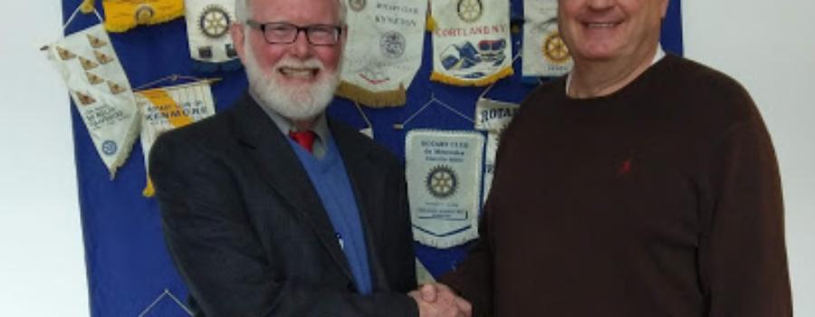 The Rotary Club of Medina welcomes Michael Pratt and Ray Chaya.